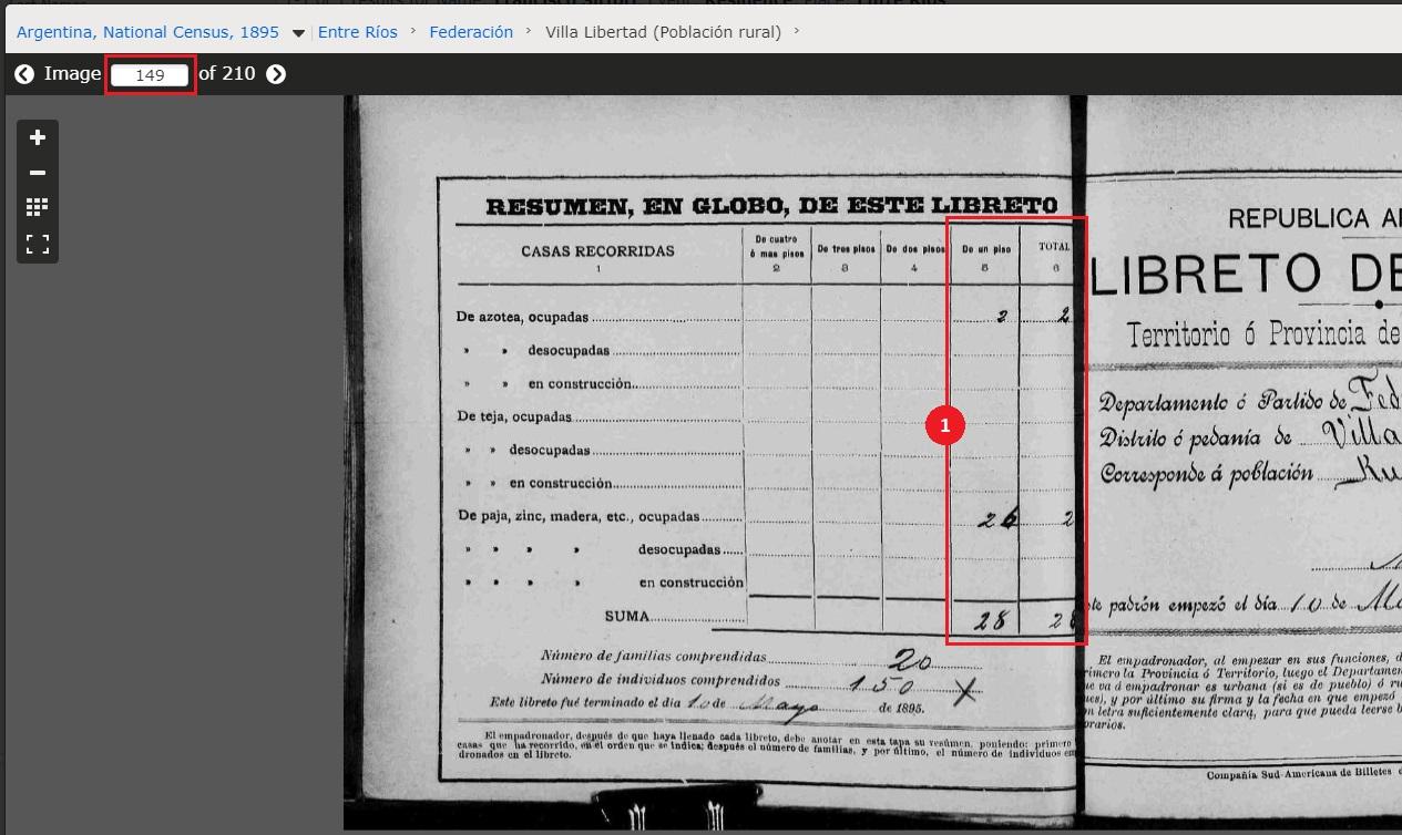 Cómo consultar el Censo Argentino de 1895 - Paso 5