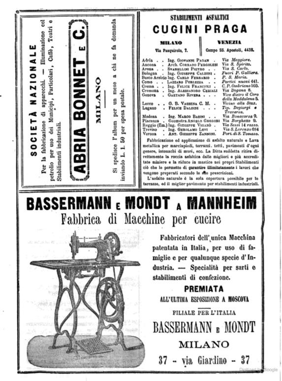 Guía de Milano 1873-74 Páginas Internas