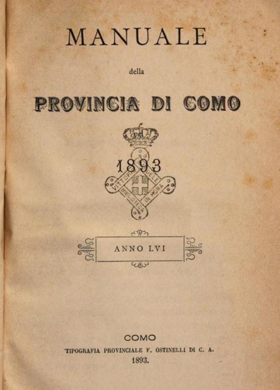 1893 Manual de la Provincia de Como