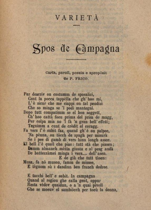 1893 Manual de la Provincia de Como - Poema