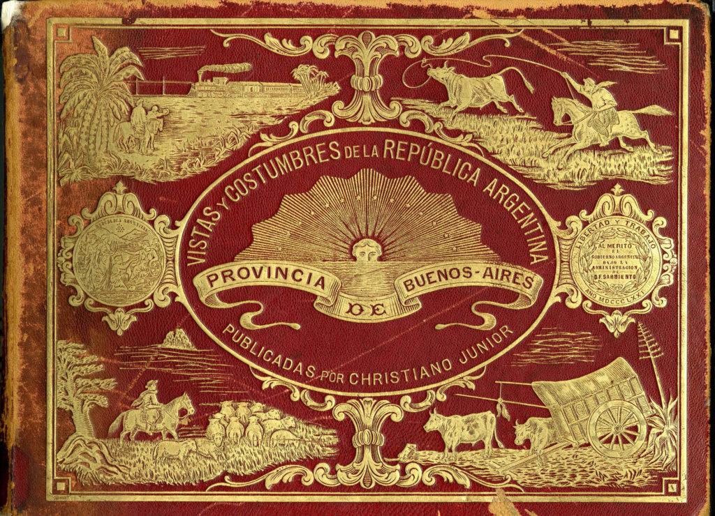 Portada del libro Vistas y Costumbres de la República Argentina (1876)