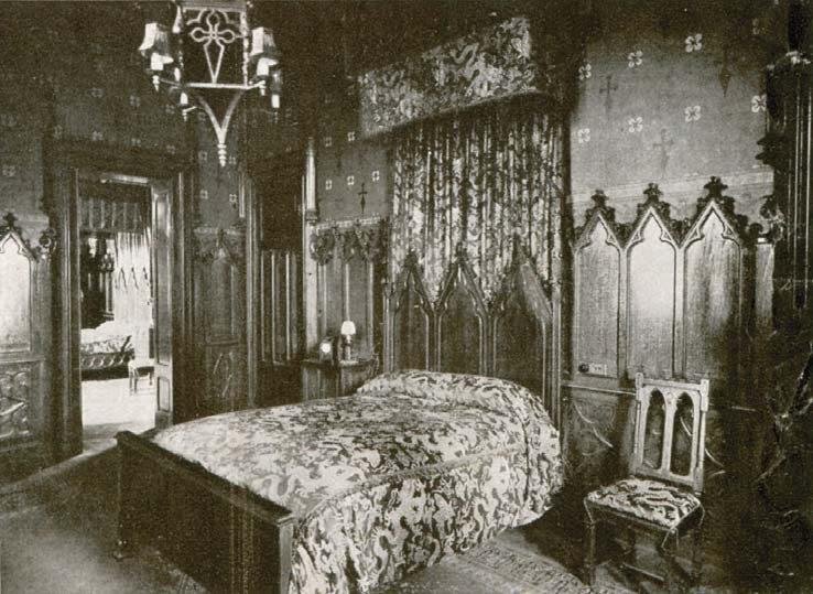 El Castillo Naveira a Principios de Siglo - Dormitorio de Manuel Naveira