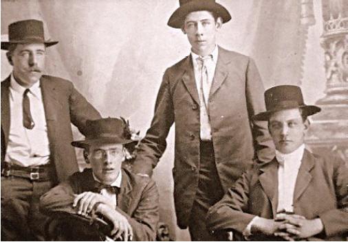 Grupo de inmigrantes Irlandeses en el Siglo XIX.