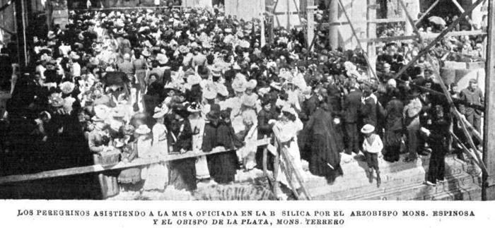 """Peregrinacion de Irlandeses a Lujan con motivo de la celebración del Día de San Patricio """"Patrono de Irlanda"""". 1901."""