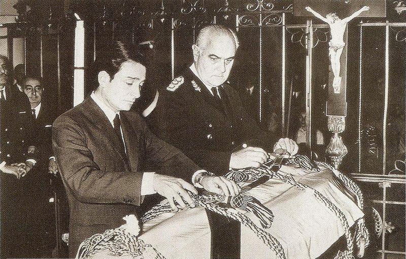 El féretro de Eugenio Aramburu en 1970.