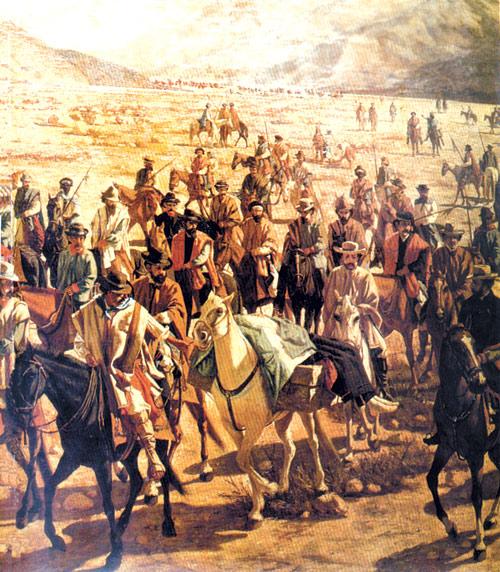 Conducción del cadáver de Juan Lavalle por la Quebrada.