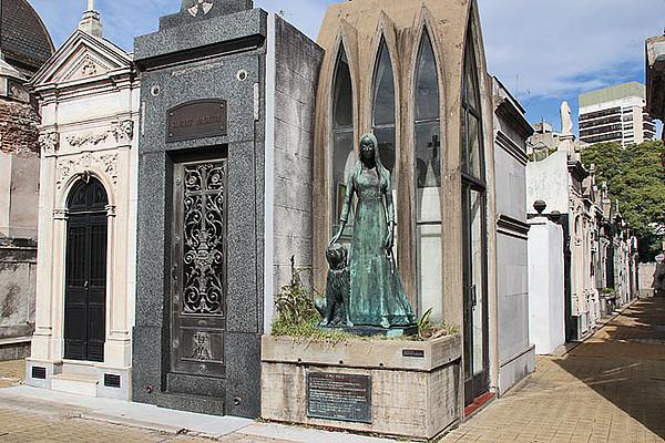 Tumba de Liliana Crociati en el Cementerio de la Recoleta.
