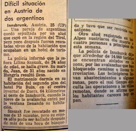 La Nación sobre el rescate de Liliana Crociati.