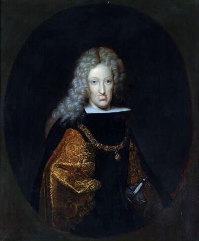 Retrato de Carlos II de Habsburgo por W Humer.