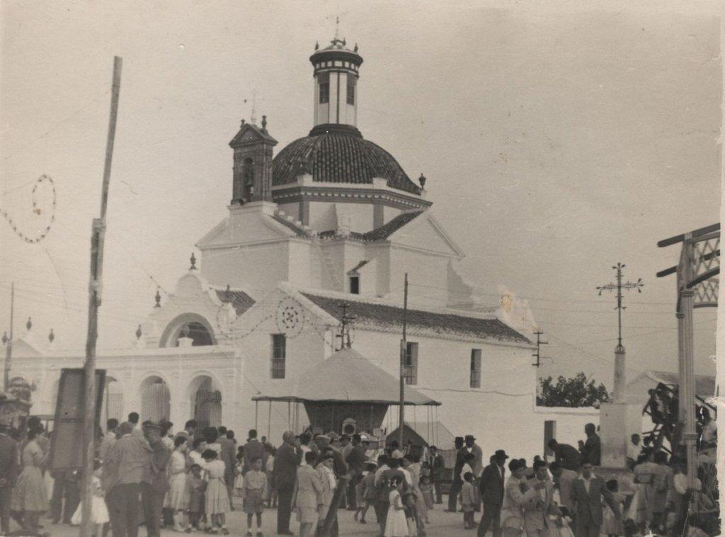 Montalbán de Córdoba durante la celebración de la Feria de Agosto en los años 60.