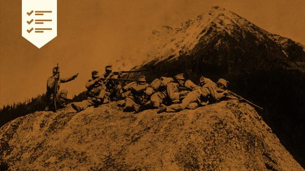 Soldados Italianos caidos en la Primera Guerra Mundial