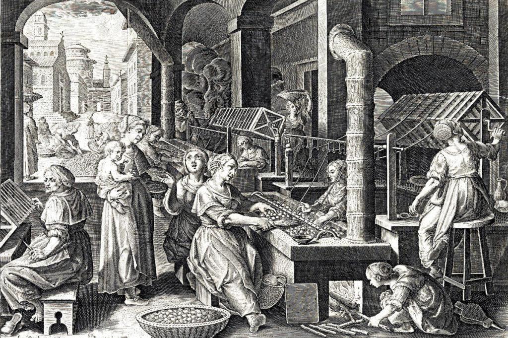 Producción de la seda en Europa