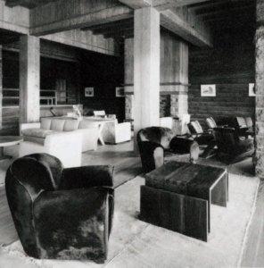 El hall central del hotel Llao-Llao antes del incendio
