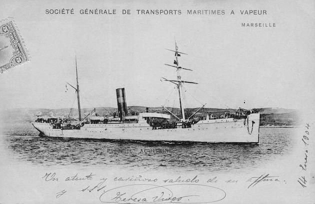 Aquitaine - Societe Generale de Transp. Maritimes, 1890-1927