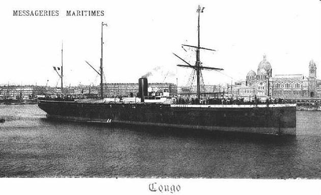Congo - Messageries Maritime, 1878-1913