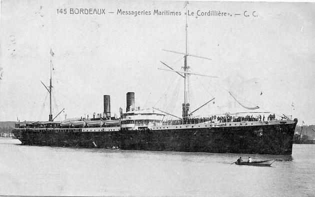Cordillére - Messageries Maritime, 1895-1925