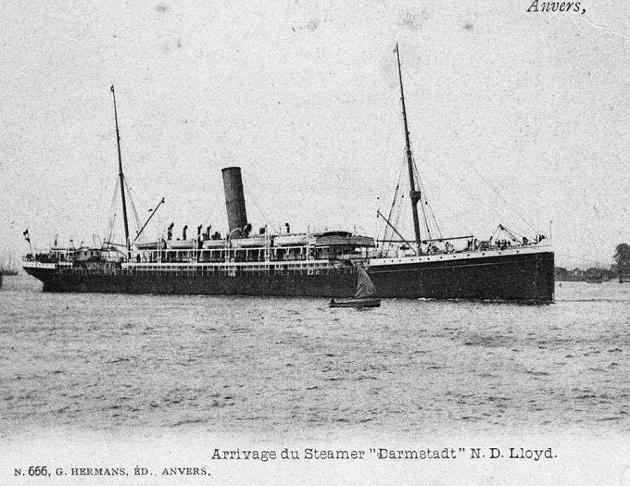 Darmstadt - Norddeutscher Lloyd, 1890-1923