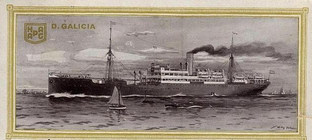 Galicia - Hamburg Amerikanische Packetfahrt Aktien Gesellschaft, 1889-1912