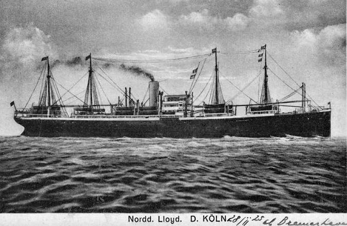 Koln - Norddeutscher Lloyd, 1870