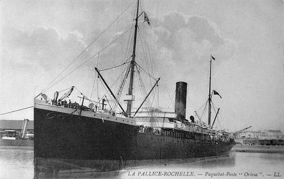 Orissa - Pacific Steam Navigation Company, 1894-1918
