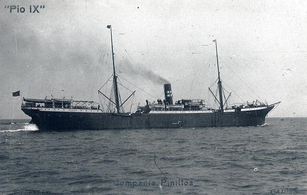 Pio IX - Pinillos Line, 1887-1916