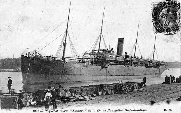 Samara - Compagnie de Navigation Sud Atlantique, 1893-1922