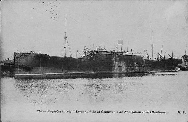 Sequana - Compagnie de Navigation Sud Atlantique, 1898-1917