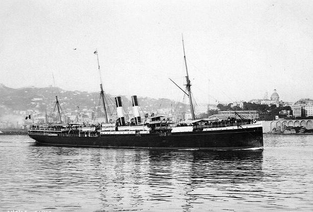 Sirio - Compañía General de Navegación Italiana La Veloce de Génova, 1883-1906