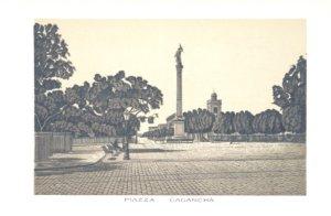 Grabados Italianos de Montevideo: Plaza Cacancha
