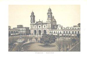 Grabados Italianos de Montevideo: Plaza Matriz