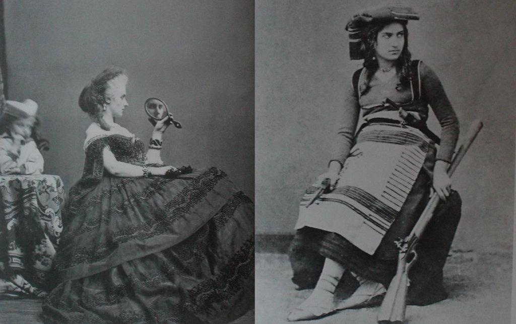 Comparación entre vestidos ricos y humildes en Italia en el Siglo XIX
