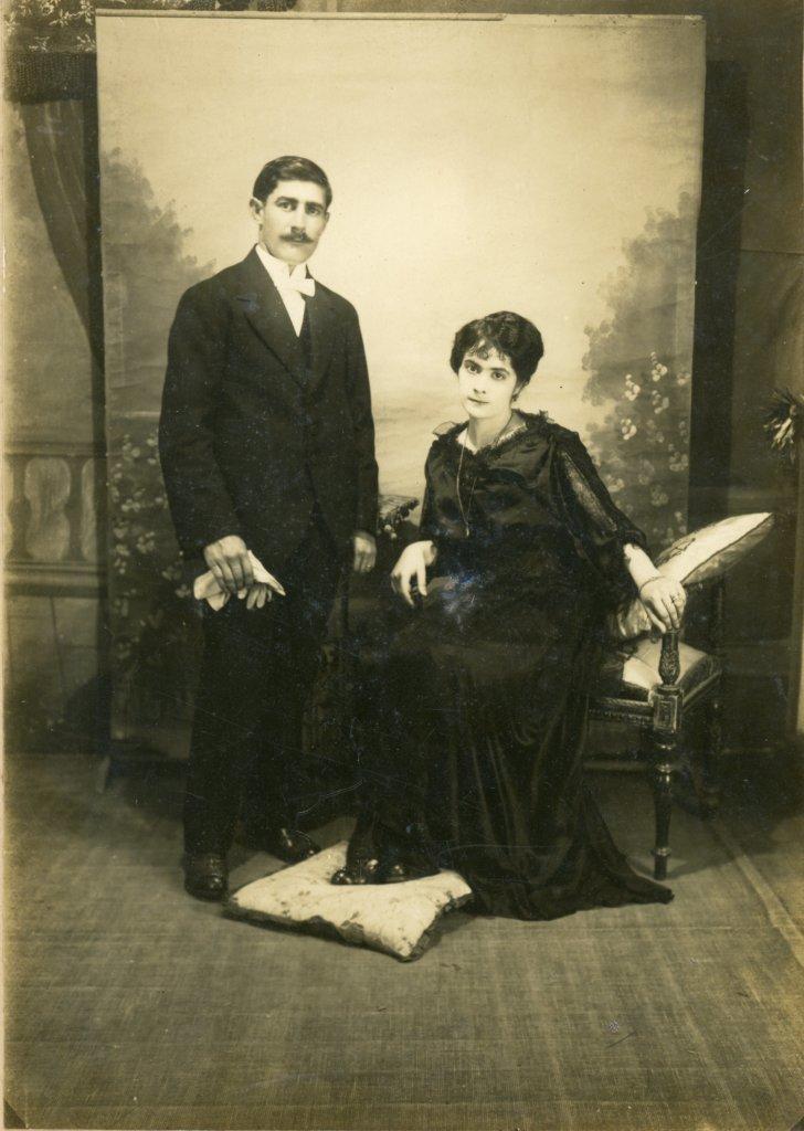 Matrimonio de inmigrantes italianos en Buenos Aires