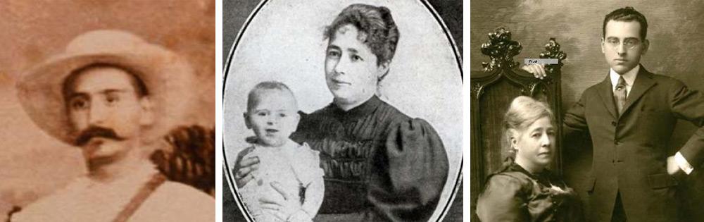 Retratos de Manuel Naveira, y Matilde Naveira con su hijo José Roque (Pepe)