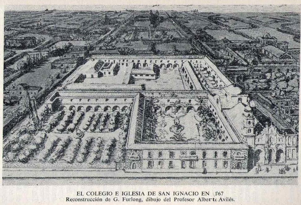 Manzana de las Luces - Colegio Nacional e Iglesia San Ignácio en 1767