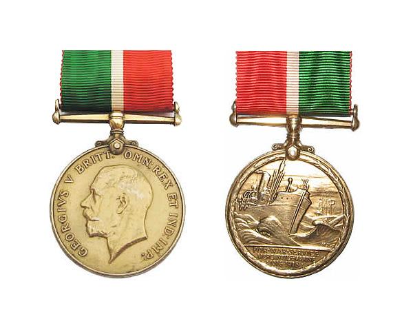 Medallas Británicas: La Medalla de la Marina Mercantil.