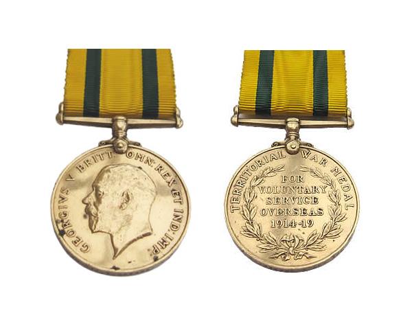 Medallas Británicas: La Medalla de Guerra de las Fuerzas Territoriales de 1914-19.