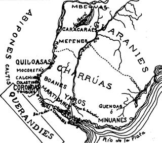 Mapa de Entre Rios y sus habitantes