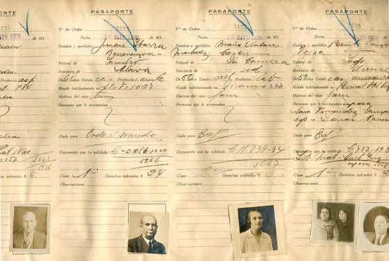 Libros de pasaportes españoles de los años 30.