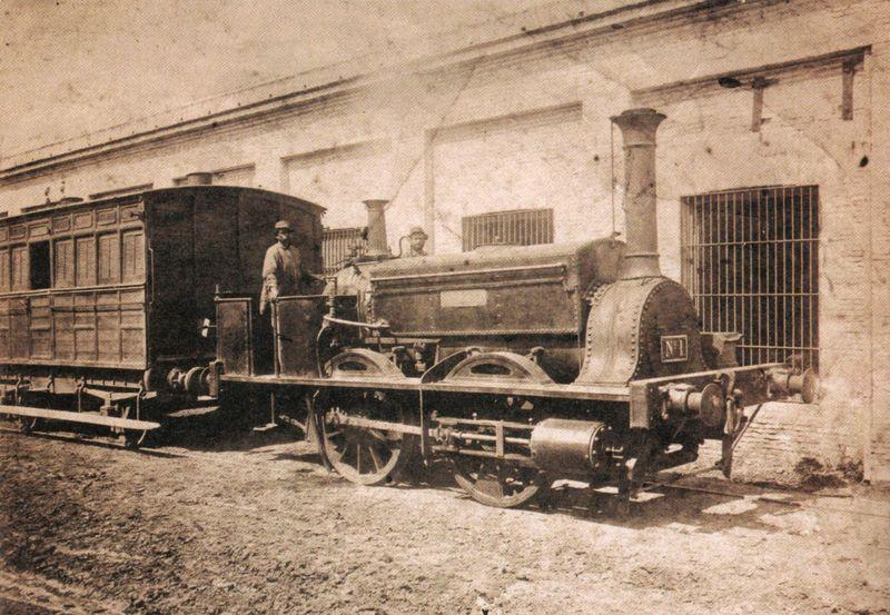 Locomotora La Porteña, la primera locomotora del Ferrocarril Oeste.