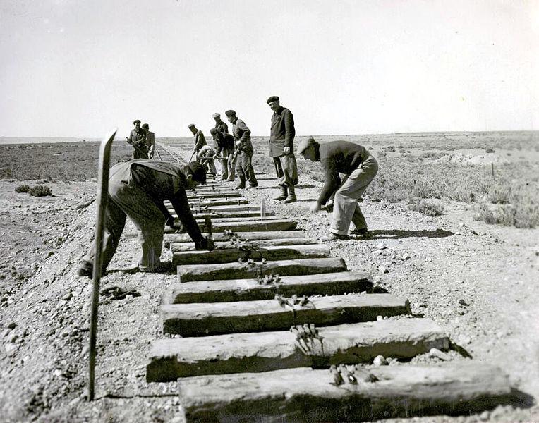 Trabajadores ferroviarios, 1952.