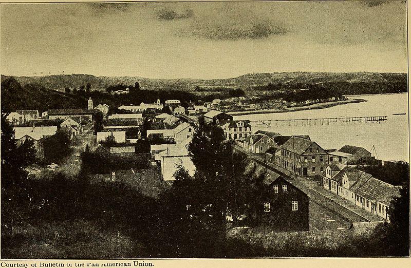 Imagen de Puerto Montt en 1912.