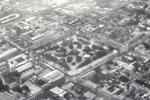Vista aérea de la ciudad en 1922.